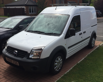 2010 FORD TRANSIT CONNECT 90 T230L/B- FITTED FOR WINDOW CLEANING