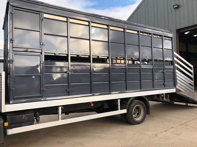 2011 MAN 8-180 TGL WITH HOUGHTON 18FT 2 DECK LIVESTOCK CONTAINER