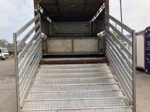 view bottom of back door with ramp down