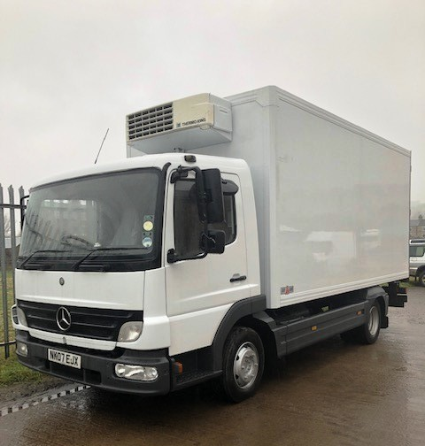 2007 Mercedes 816 Atego With Gray Adams Fridge Box