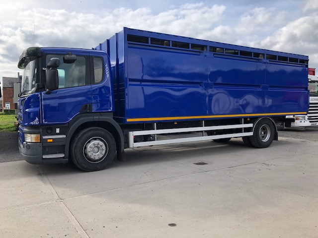 2008 Scania P230 Day Cab With 2 Year Old Plowman Single Deck Livestock Box